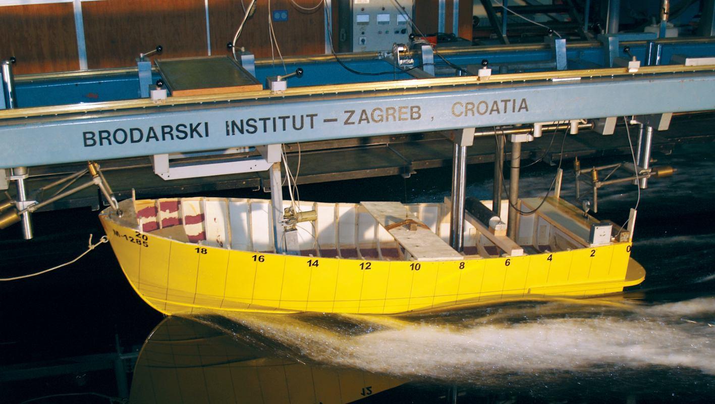 Hidrodinamika: Eksperimentalno određivanje otpora plovila