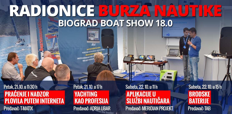 Radionice Burze Nautike na Biograd Boat Showu