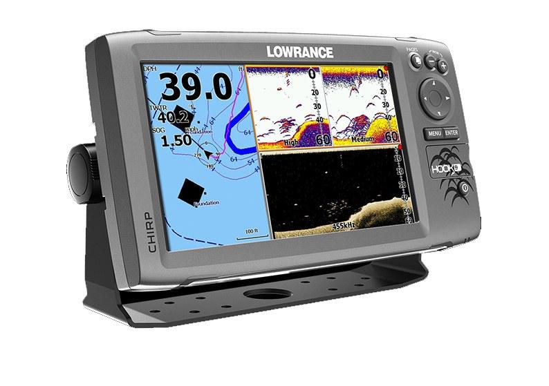 Hook fishfinderi i GPS ploteri