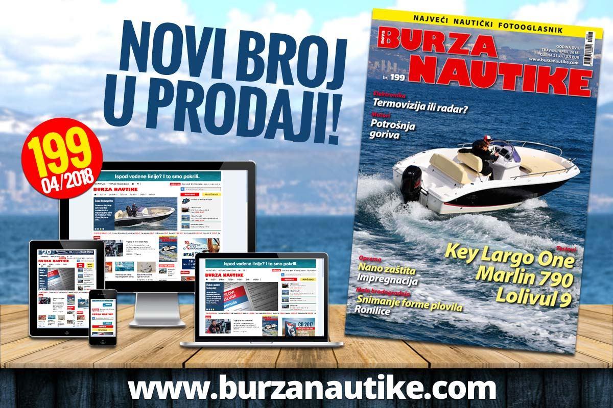 Tiskano izdanje Nautike 199. po redu u prodaji!