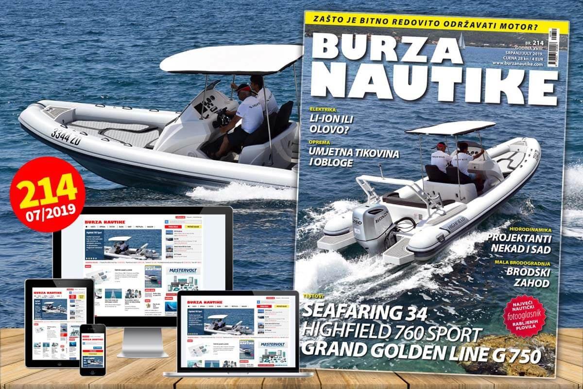 Od danas 3. srpnja na svim prodajnim mjestima možete kupiti novi, 214. broj Burze Nautike.
