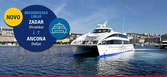 Jadrolinija uvodi novu brzobrodsku linija Zadar – Ancona
