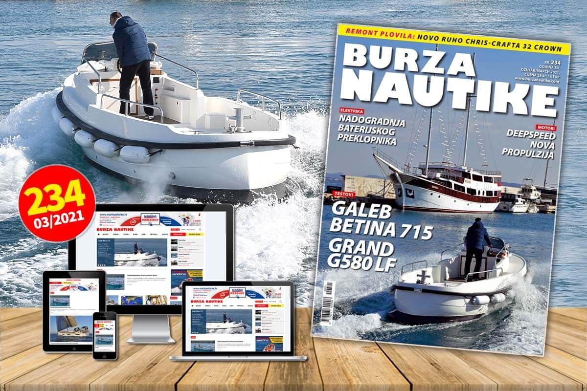 Ožujak je, i novi, 234. broj Burze Nautike je na svim boljim prodajnim mjestima!