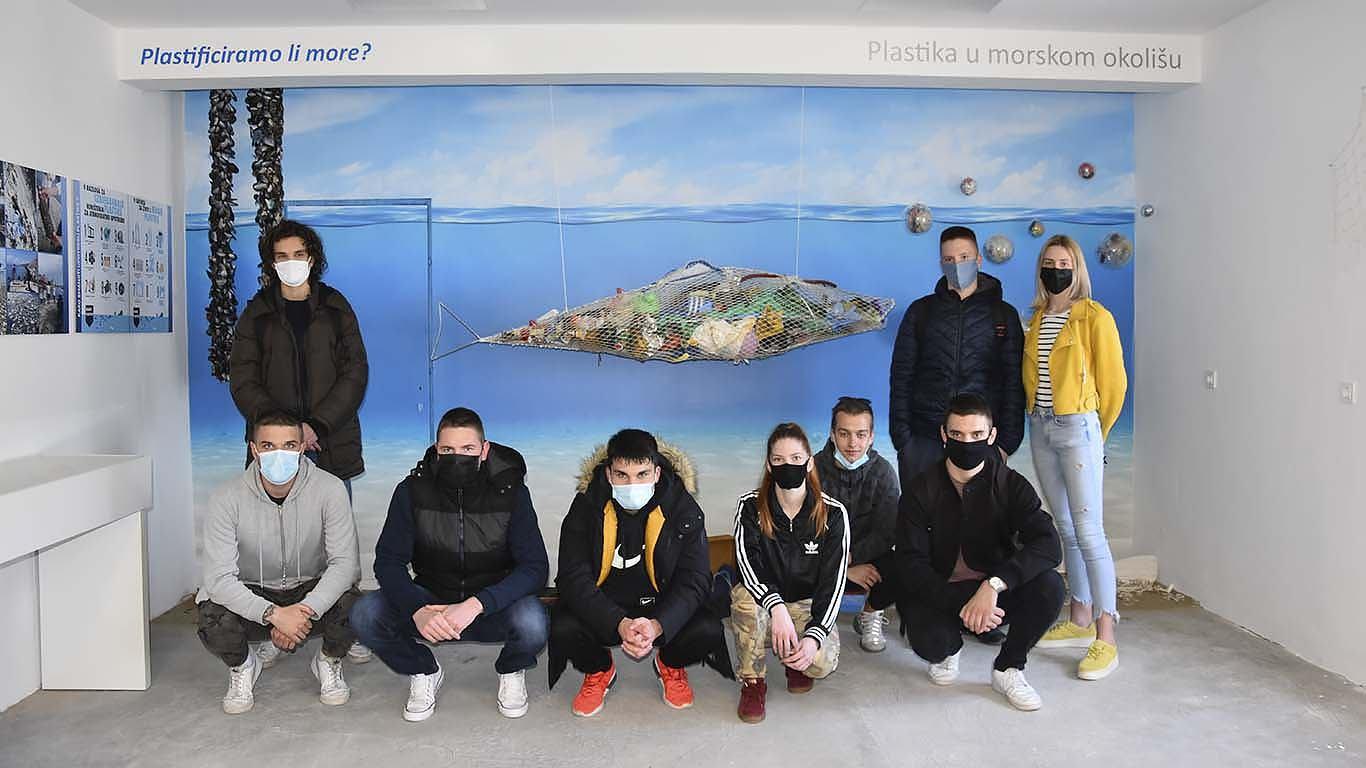 INA i Pomorska škola zajedno u borbi protiv plastike