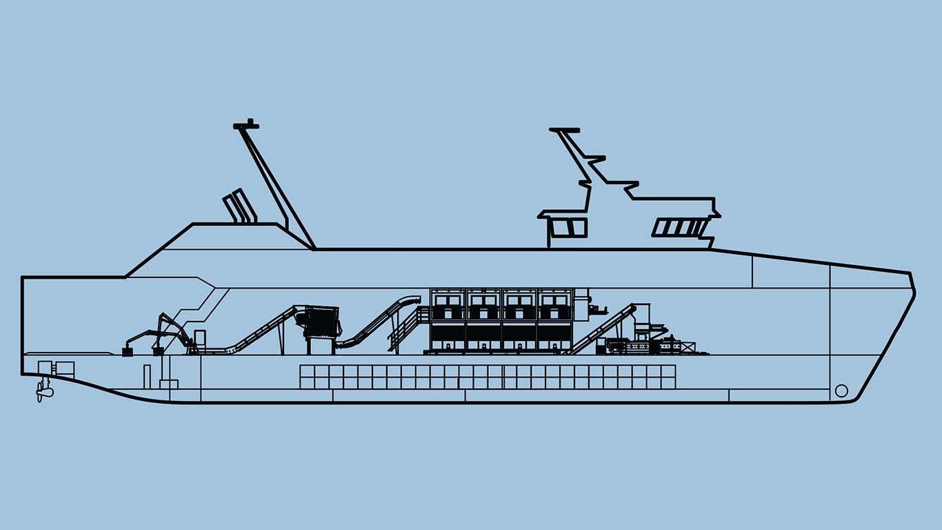Brod sortirnica otpada za hrvatske otoke