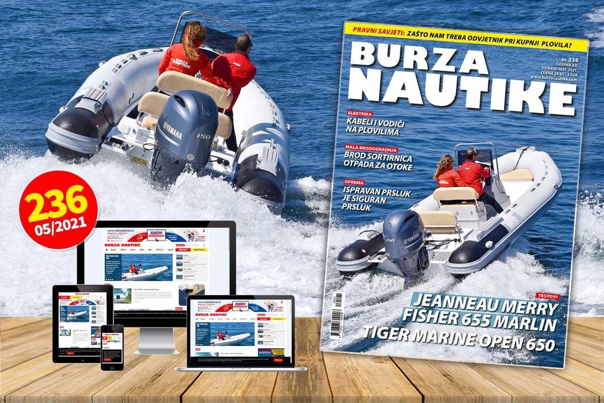 Svibanj je stigao, a s njim i novi 236. broj Burze Nautike!