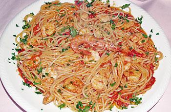 Špageti-salsa-kozice