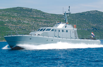 Patrolni brod hrvatske proizvodnje PV30LS