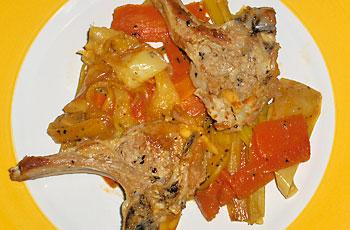 Janjeći kotleti  s povrćem