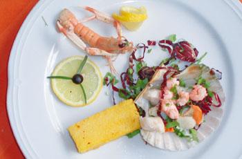 Školjke, škampi i tartufi