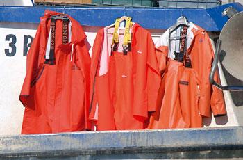Ribarska odijela na testu